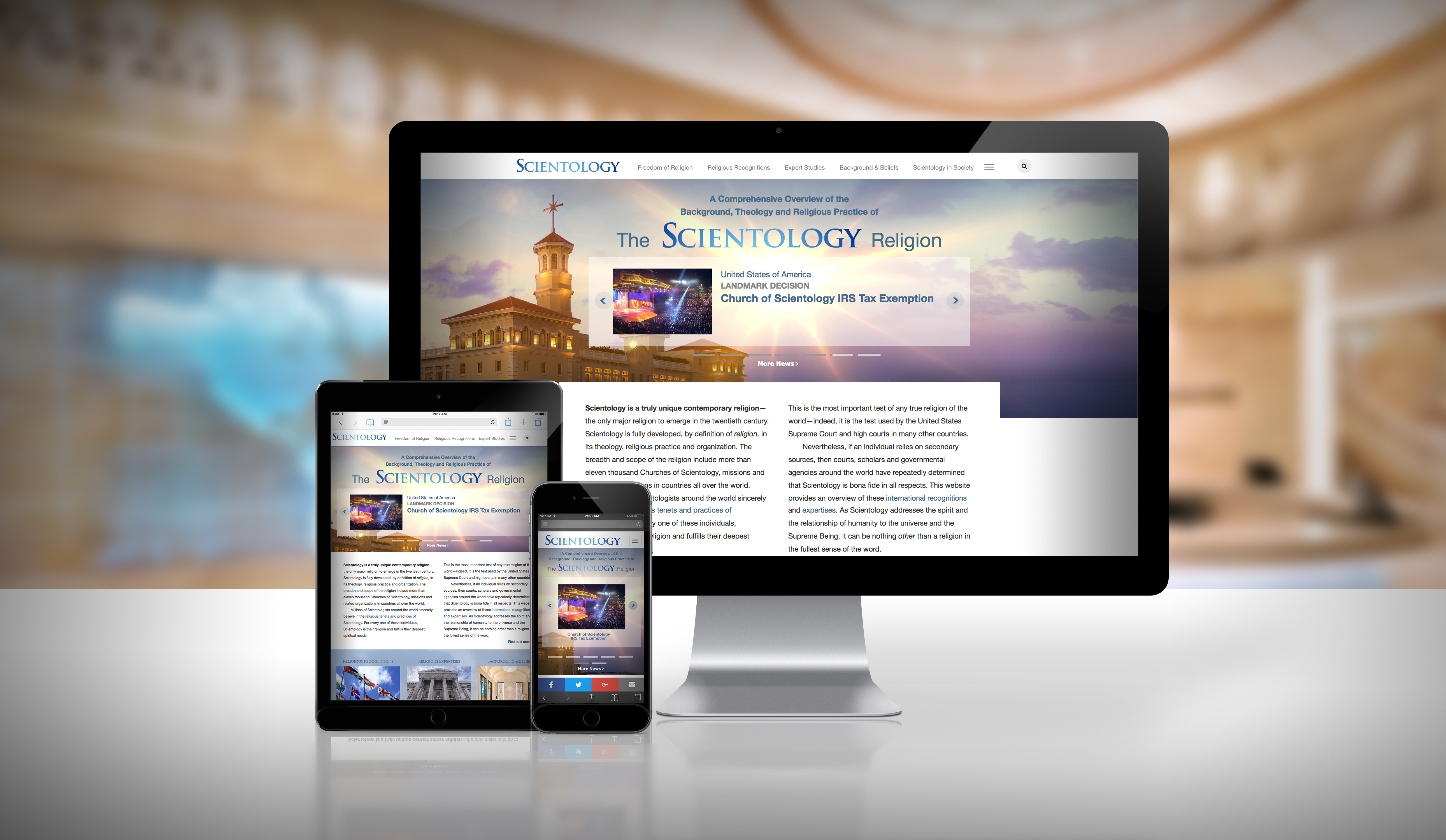 Freedom of Religion Defined in Landmark New Website from the Church of Scientology