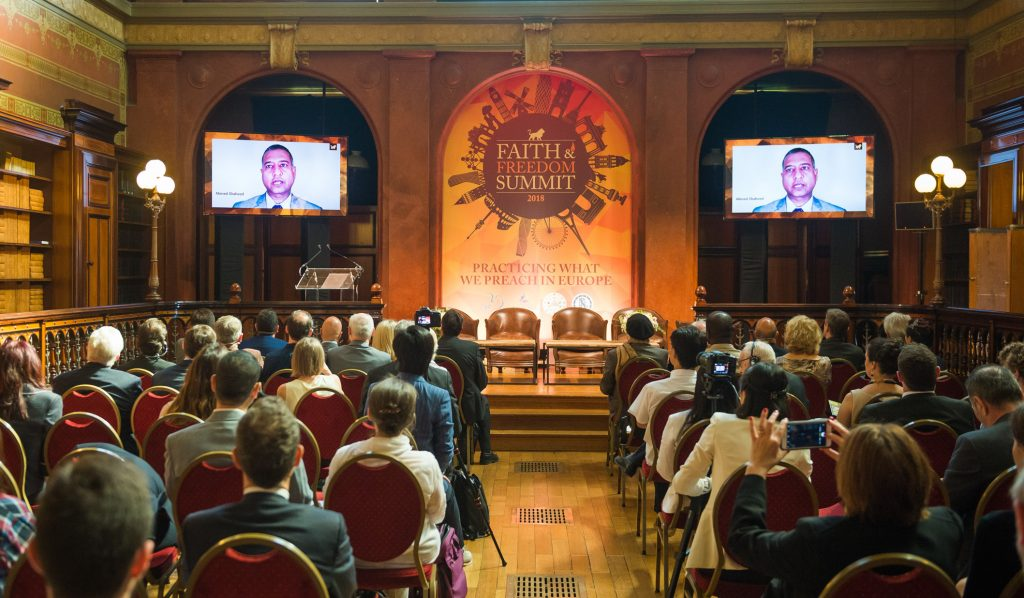 Church of Scientology partners for the launch event of the European Faith and Freedom Summit
