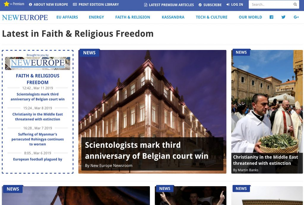 NEWEUROPE.EU: Scientologists mark third anniversary of Belgian court win