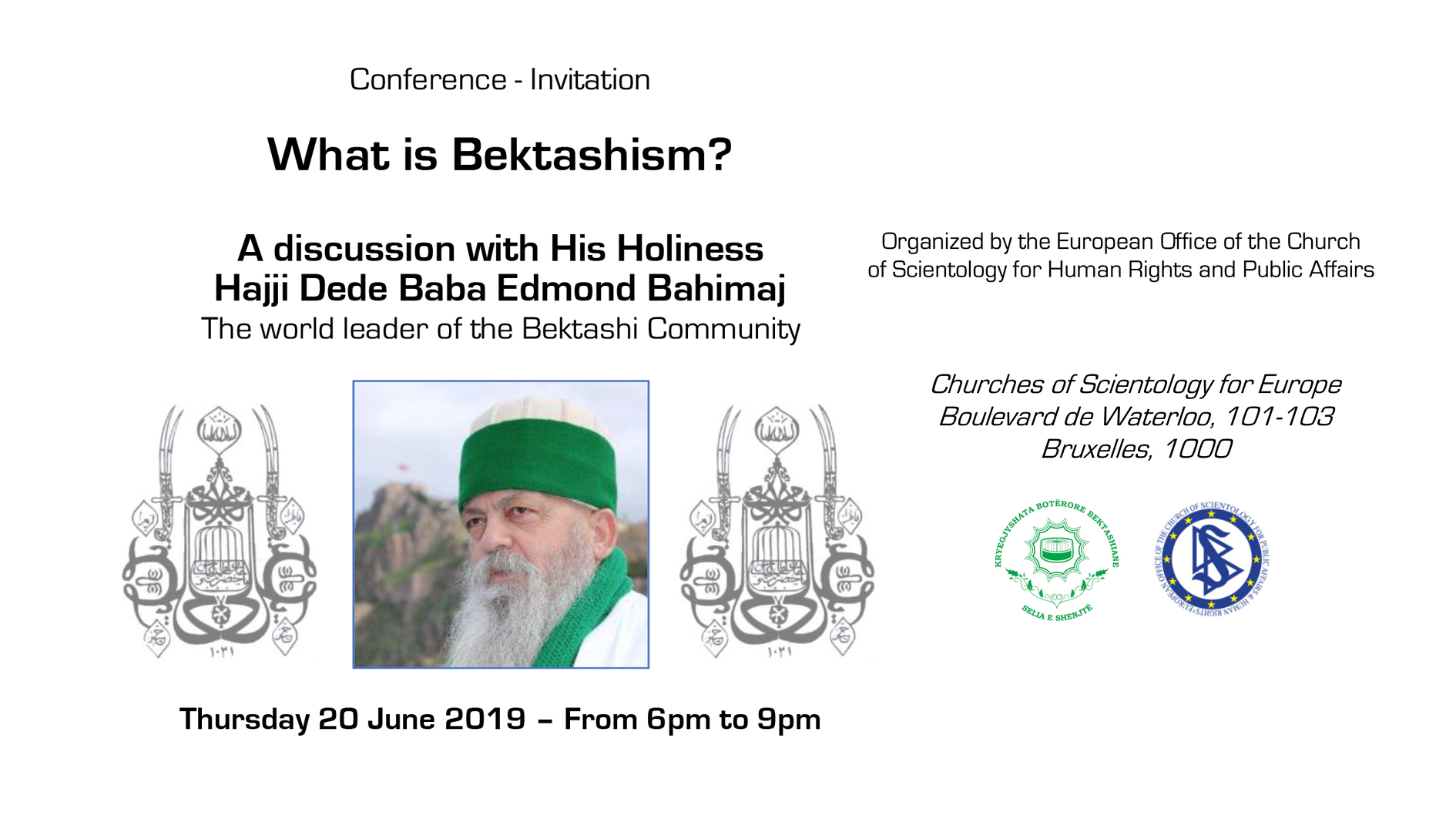 Conference: What is Bektashism? by His Holiness Hajji Dede Baba Edmond Bahimaj 🗓 🗺