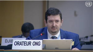 Ivan Arjona at the Human Rights Council