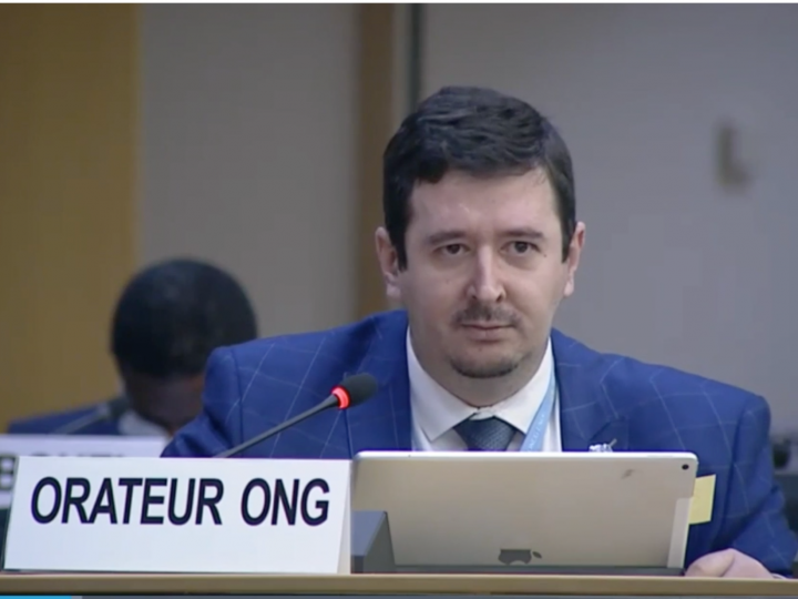 Ivan Arjona at the Human Rights Council